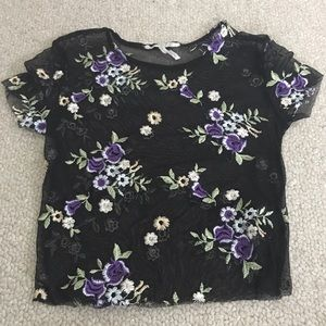 Urban Outfiters Mesh Floral Top